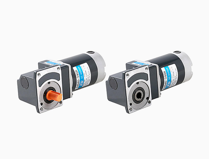 40W-80mm DC Worm Gear Right Angle Brush Gear Motor