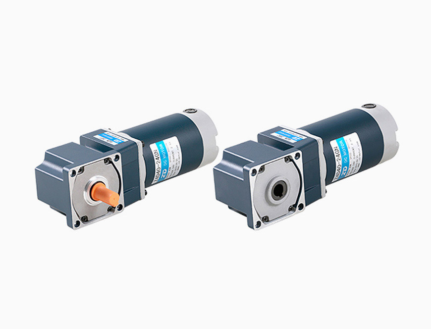 40W-80mm DC Spiral Bevel Right Angle Brush Gear Motor